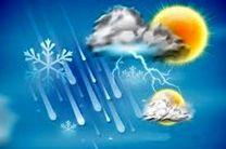 وقوع رگبار باران، رعد و برق و وزش باد در نقاط مختلف کشور