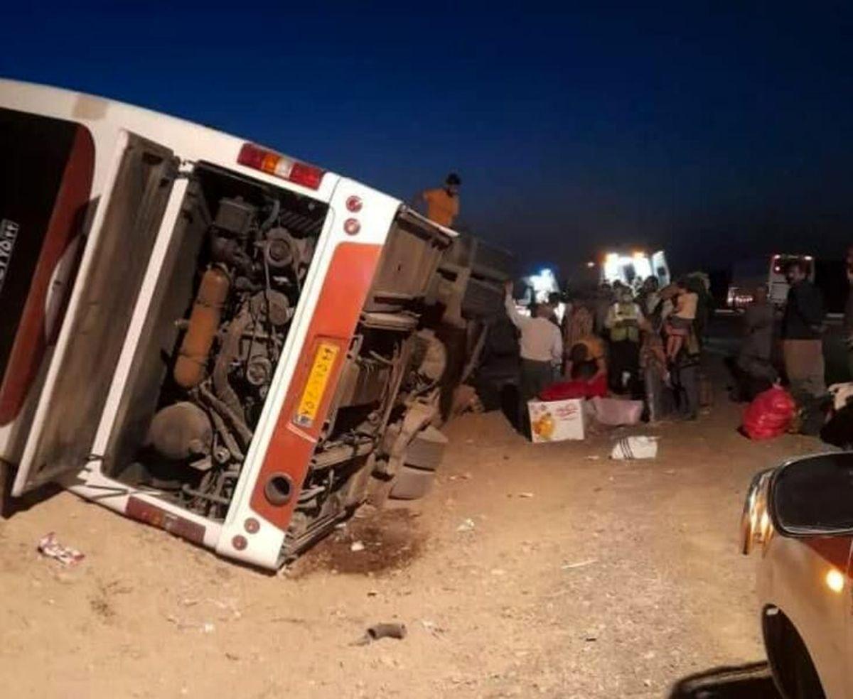واژگونی اتوبوس در محور هراز/ ۳ نفر کشته و ۳۹ نفر مصدوم شدند