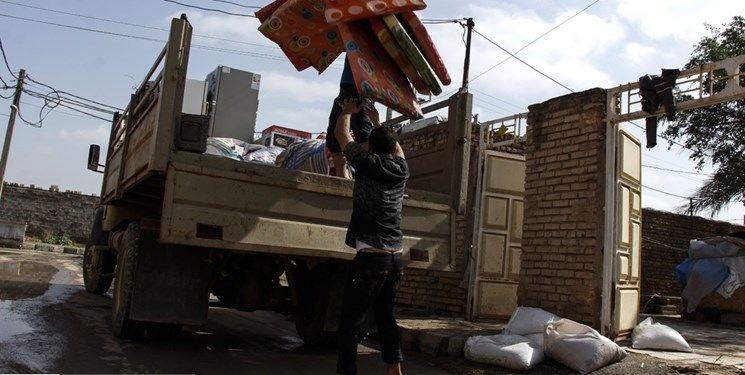 تخلیه منازل واقع در حریم و بستر رودخانه های شهرستان دیواندره