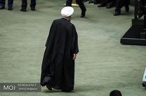 روحانی جلسه علنی مجلس را ترک کرد