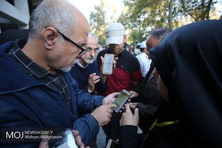 تجمع اعتراضی مینی بوس داران در مقابل شورای شهر تهران