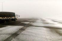 بارش برف در گردنه «زالیان» بروجرد