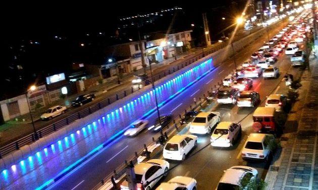 ترافیک شدید در محور ناهارخوران گرگان