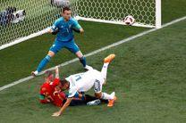 تساوی بازی اسپانیا و روسیه در نیمه نخست