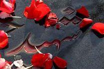 مزار شهدا در اردستان گلباران شد