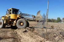 رفع تصرف بیش از 56 هزار مترمربع از اراضی ملی میناب
