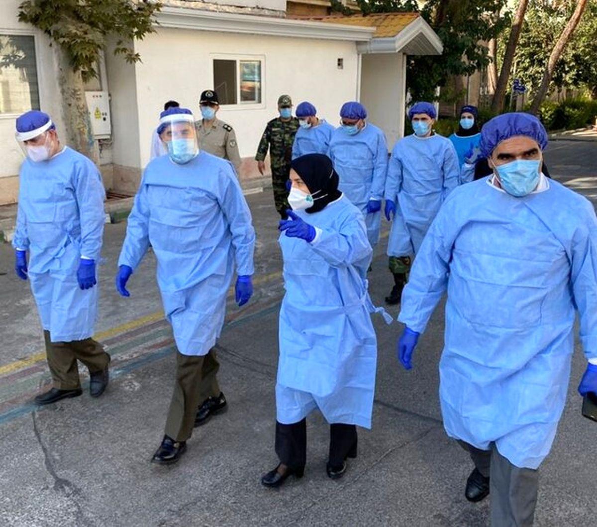 امیر سرتیپ حیدری از بخش های مختلف بیماران بیمارستان هاجر بازدید کرد