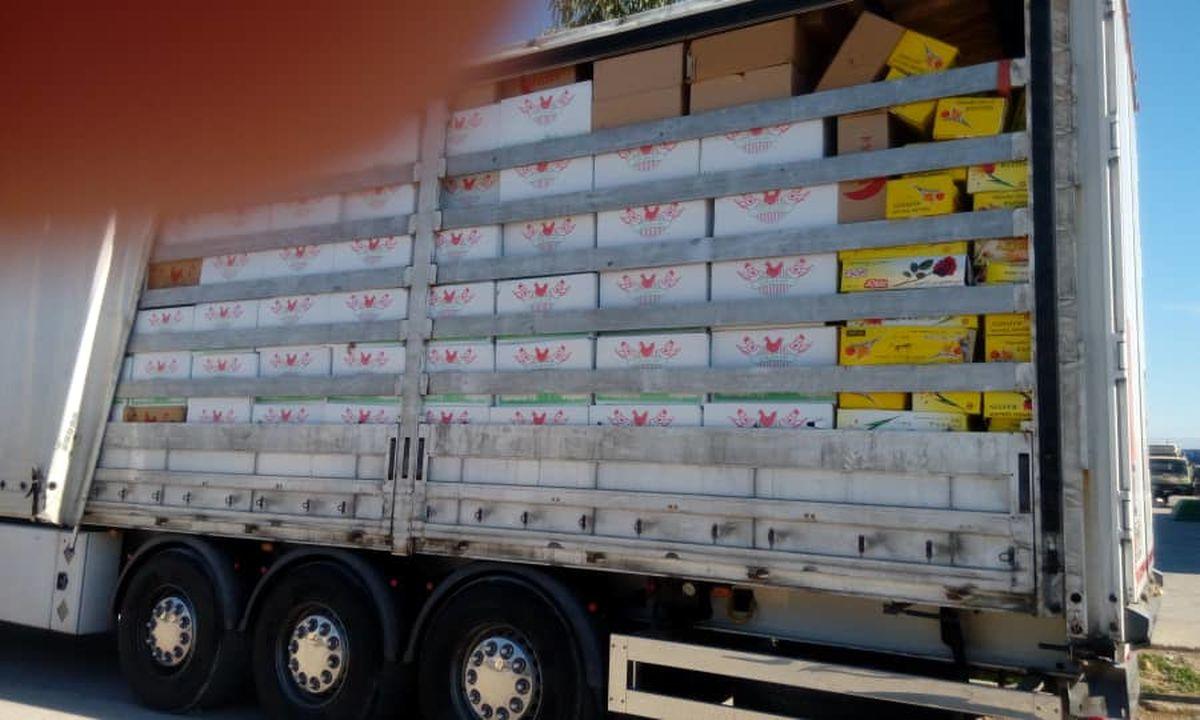 ماموران گمرک در مرز مهران موفق به کشف ۲۰ تن تخم مرغ قاچاق شدند