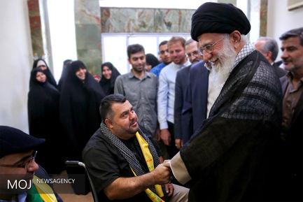 دیدار جانبازان حزبالله لبنان با مقام معظم رهبری
