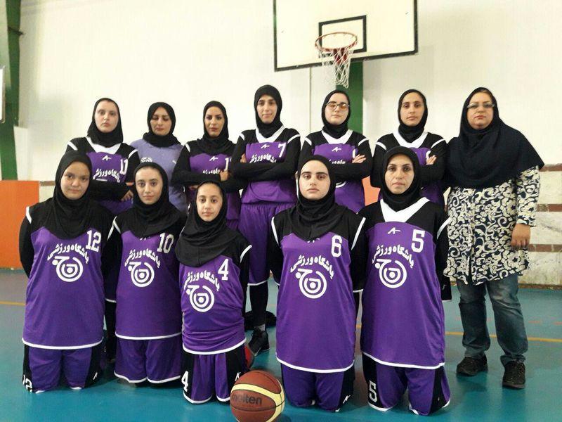 حضور تیم بسکتبال بانوان حاج حسن در مسابقات سوپر لیگ