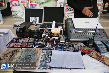 نمایشگاه کشفیات قرارگاه اقدام و عمل پلیس استان اصفهان