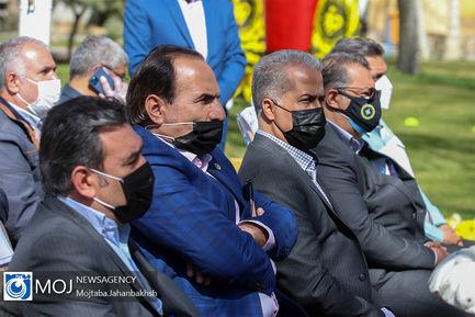 رونمایی از سردیس شهید غازی کاپیتان اسبق تیم فوتبال سپاهان