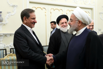 حسن روحانی رییس جمهوری و اسحاق جهانگیری معاون اول