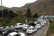 ترافیک در جادههای شمالی منتهی به تهران