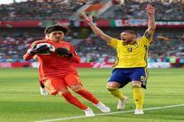 نتیجه بازی مکزیک و سوئد در جام جهانی/ سوئد به دور بعدی صعود کرد