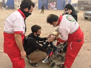 درمان سرپایی بیش از 29 هزار زائر  اربعین حسینی در مرزهای شلمچه و چذابه