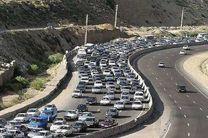ترافیک در محورهای مواصلاتی شرق استان تهران بسیار سنگین است