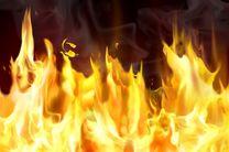 آتشسوزی اتوبوس مسافربری تهران مریوان