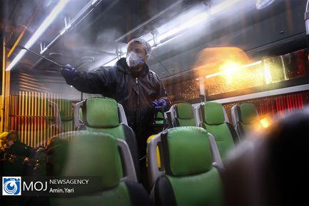 ضد عفونی ناوگان حمل و نقل عمومی تهران