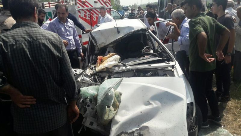 یک کشته و دو مجروح در برخورد سواری پراید با کامیون