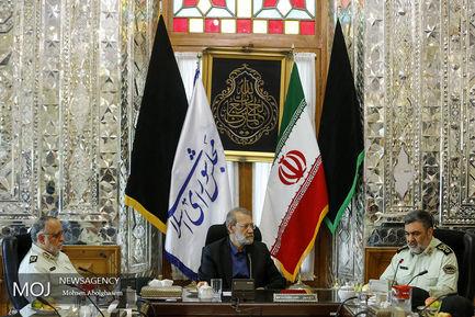دیدار+فرمانده+نیروی+انتظامی+با+علی+لاریجانی