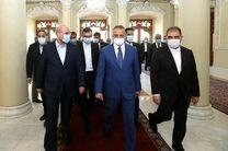 دیدار نخست وزیر عراق با قالیباف در پارلمان