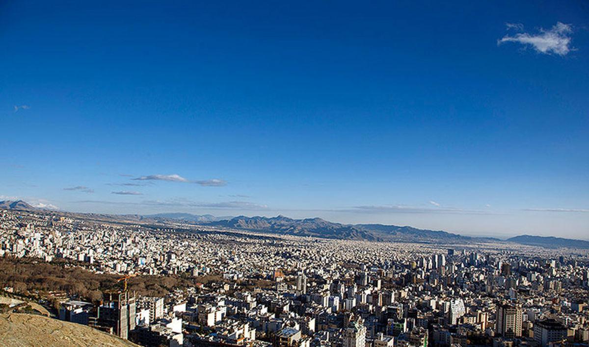 کیفیت هوای تهران در شرایط قابل قبول قرار گرفت