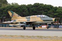 انهدام ستون زرهی دشمن توسط جنگندههای اف ۷