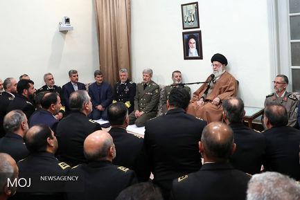 دیدار جمعی از فرماندهان ومسئولان نیروی دریایی ارتش