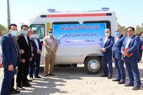 اهدای یک دستگاه آمبولانس توسط بانک رفاه کارگران به دانشگاه علوم پزشکی جیرفت