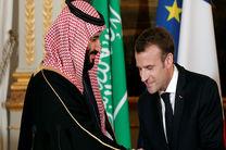 رایزنی ولیعهد عربستان و رئیس جمهور فرانسه در مورد مسائل منطقه ای