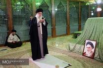 رهبر معظم انقلاب در حرم مطهر بنیانگذار انقلاب اسلامی حضور یافتند