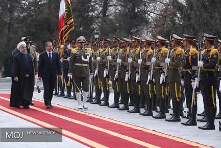 استقبال رسمی رییس جمهور از نخست وزیر سوئد