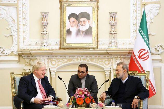 وزیر خارجه انگلیس با لاریجانی دیدار کرد