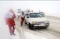 امدادرسانی هلال احمر اصفهان به 616 مسافر گرفتار در برف و کولاک
