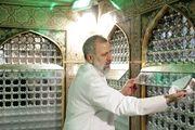 وداع حجت الاسلام رییسی با آستان قدس رضوی