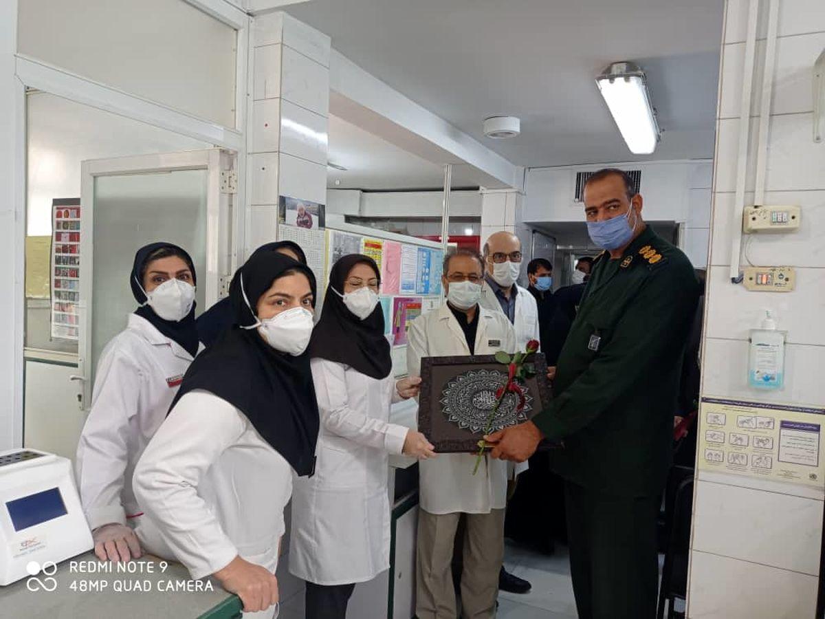تقدیر فرماندهان بسیج از کارکنان بیمارستان عیسی ابن مریم (س) اصفهان