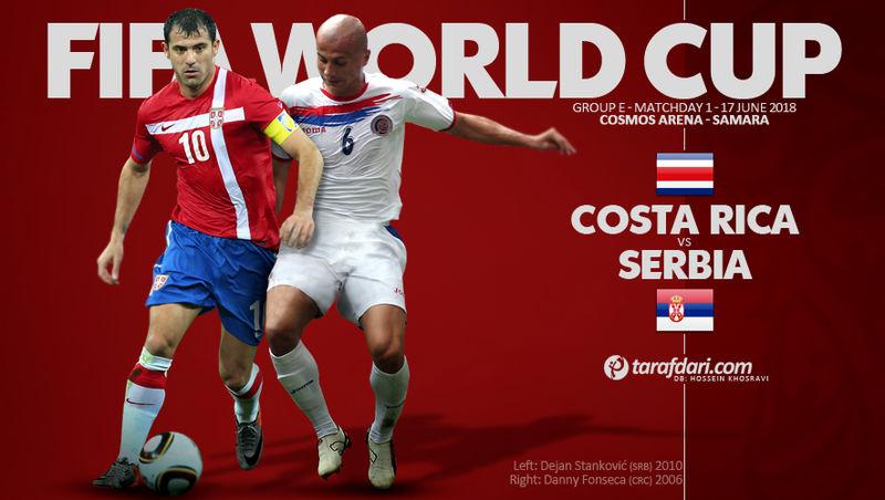 ساعت بازی کاستاریکا و صربستان در جام جهانی مشخص شد