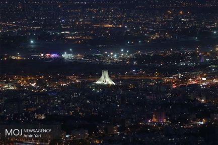 نمای+شهر+تهران+از+بالای+برج+میلاد