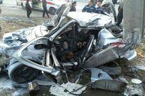 حادثه رانندگی دو کشته و مجروح برجای گذاشت