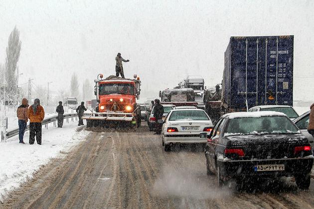 فهرست جادههای مسدود کشور در برف و باران
