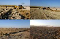 رفع تصرف 52 هکتار از اراضی ملی  در تیران و کرون