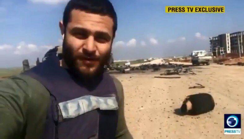 حمله تروریستها به تیم خبری شبکه پرس تیوی در غوطه شرقی