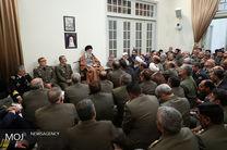 دیدار فرماندهان ارشد ارتش با فرمانده معظم کل قوا