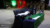 وداع با پیکر مطهر شهید مدافع حرم رضا کریمی