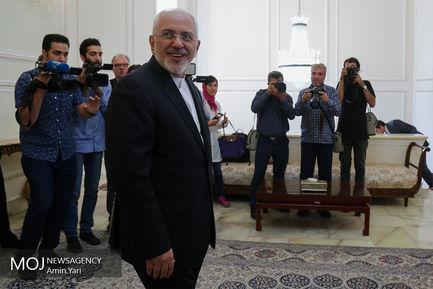 دیدار محمد جواد ظریف، وزیر امور خارجه جمهوری اسلامی ایران با میگل آریاس کانیته، کمیسیونر انرژی اتحادیه اروپا