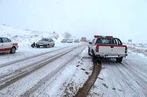 بارش برف و مه گرفتگی در جاده های خراسان رضوی