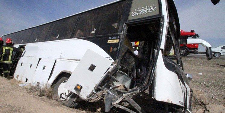 واژگونی اتوبوس در اتوبان زنجان  تبریز / ۱۰ نفر کشته شدند