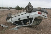 5 مصدوم در اثر واژگونی یک دستگاه خودرو پراید دراتوبان فرودگاه اصفهان