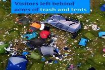 کتاب خوان های انگلیسی هکتار ها زباله را در طبیعت رها کردند